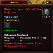 Divine Exemplar's Shaped Plate Pauldrons