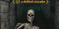 A defiled crusader