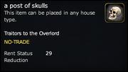 A post of skulls