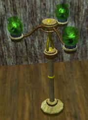 Eerie-green-glass-candelabra
