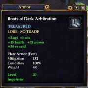 Boots of Dark Arbitration