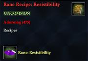 Rune Recipe- Resistibility