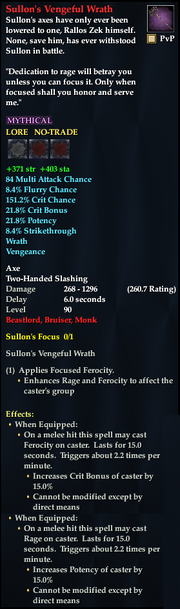 Sullon's Vengeful Wrath Beastlord Brawler
