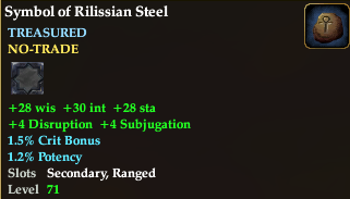 Symbol of rilissian steel