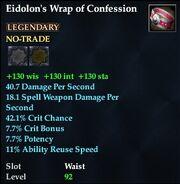 Eidolon's Wrap of Confession