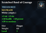 Scratched Band of Courage