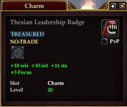 Thexian Leadership Badge