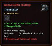 Tanned leather skullcap