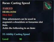 Focus Casting Speed