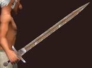 Imbued Iron Long Sword (Equipped)