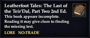 File:Leatherfoot Tales- The Last of the Teir'Dal, Part Two, 2nd Ed. (Quest Starter).jpg