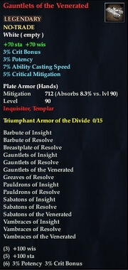 Gauntlets of the Venerated