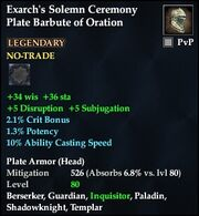 Exarch's Solemn Ceremony Plate Barbute of Oration