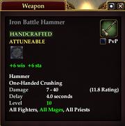 Iron Battle Hammer