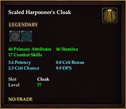 Scaled Harpooner's Cloak