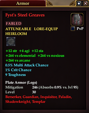 Fyst's Steel Greaves