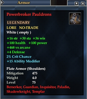 Powerbroker Pauldrons