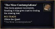 The Nine Contemplations (Quest Starter)