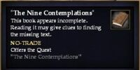 """The Nine Contemplations"" (Quest Starter)"