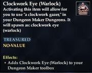 Clockwork Eye (Warlock)