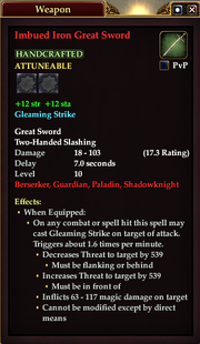 Imbued Iron Great Sword