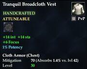 Tranquil Broadcloth Vest