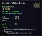 Gnomish Flotation Device