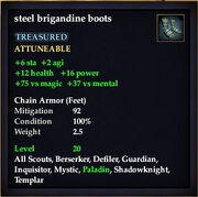 Steel brigandine boots