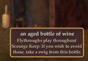 An aged bottle of wine