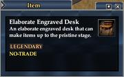 Elaborate Engraved Desk