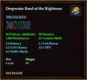 Deepwater Band of the Righteous