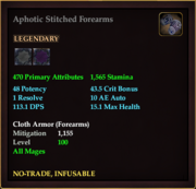 Aphotic Stitched Forearms