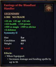 Earrings of the Bloodlust Handler