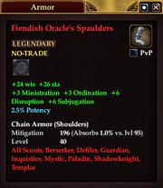 Fiendish Oracle's Spaulders