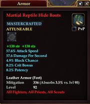 Martial Reptile Hide Boots
