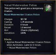 Naiad Waterworker Potion
