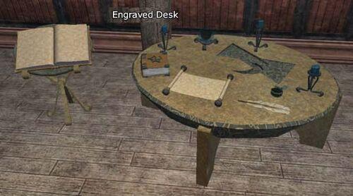 Station Engraved Desk