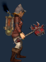 Scourge Tainted Hammer of Rending (Equipped)