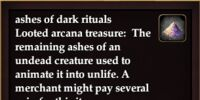 Ashes of dark rituals