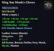 Ning Yun Monk's Gloves