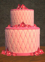 A Delicious Pink Cake Placed
