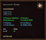 Spearman's Bangle