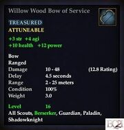 Willow Wood Bow of Service