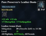 Pure Preserver's Leather Boots