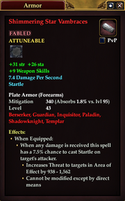 Shimmering Star Vambraces