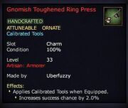 Gnomish Toughened Ring Press