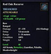 Red Oak Recurve