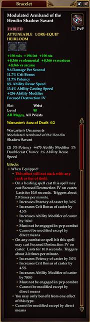 Modulated Armband of the Hendin Shadow Savant