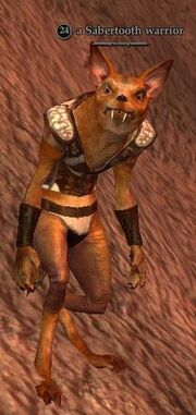 Sabertooth warrior
