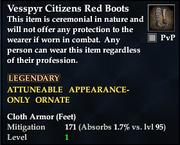 Vesspyr Citizens Red Boots
